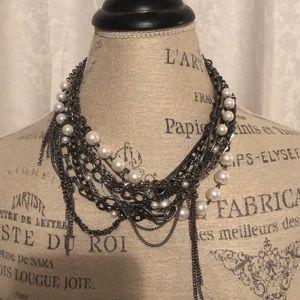 BCBGMAXAZRIA Pearl Layered Necklace
